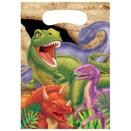 Dinosaurus uitdeelzakjes 8 stuks