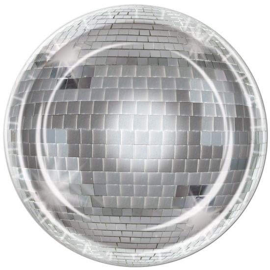 Disco bol bordjes 8 stuks