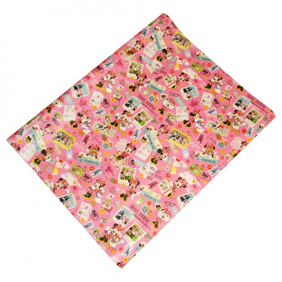 Disney cadeaupapier Minnie travelling