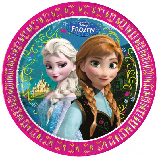 Disney Frozen bordjes 8 stuks
