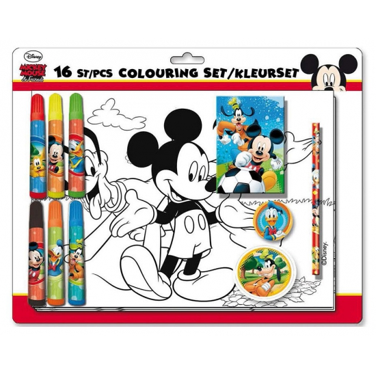 Disney Mickey Mouse kleur  en tekenset