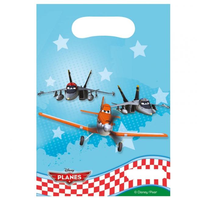 Disney Planes feestzakjes plastic 6 stuks