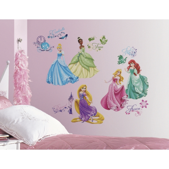 Disney prinsessen stickers voor op de muur