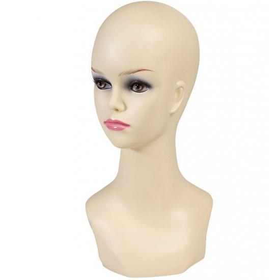 Display hoofd blanke vrouw 40 cm