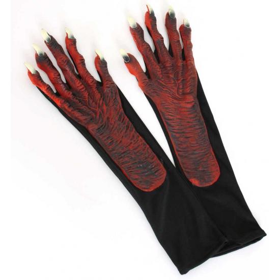 Duivel verkleedaccessoires handschoenen