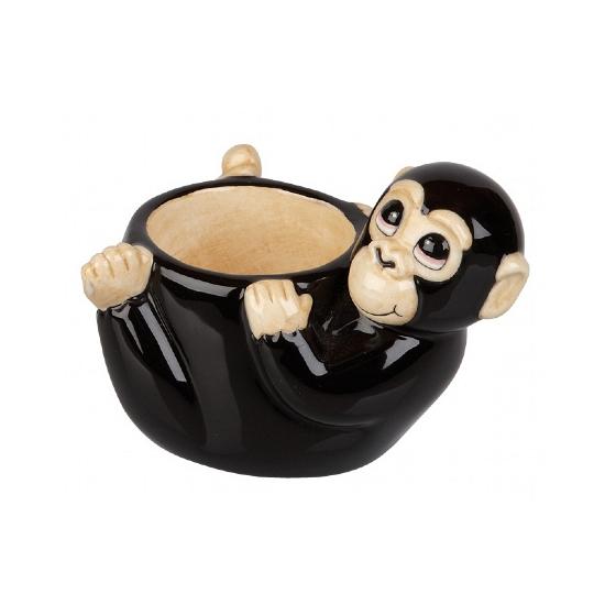 Eierdopje in de vorm van een aap 10 cm
