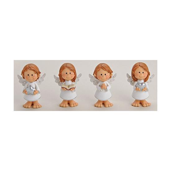 Engel met hart decoratie 10 cm