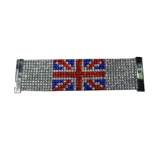 Engeland armband glitter steentjes