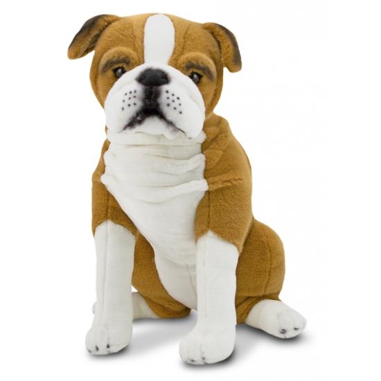 Engelse bulldog knuffels zittend 53 cm