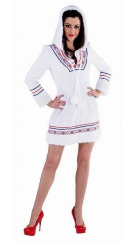 Eskimo jurkje wit met borduursel