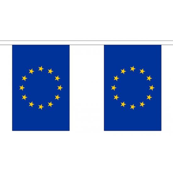 Europa vlaggenlijn van stof 3 m