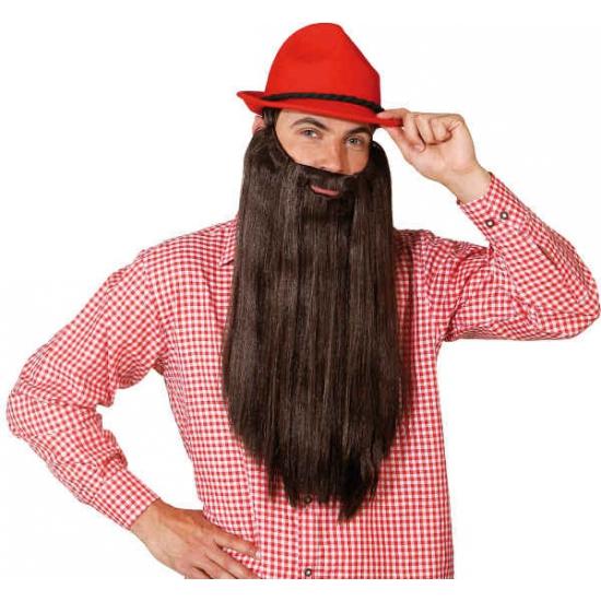 Extra lange bruine baard