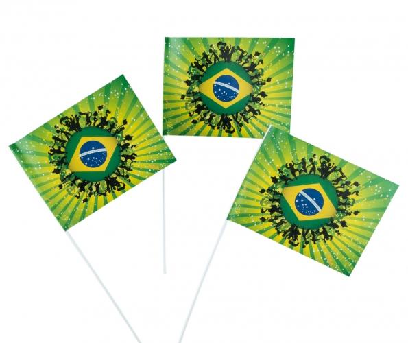Fan zwaaivlaggetjes Brazilie