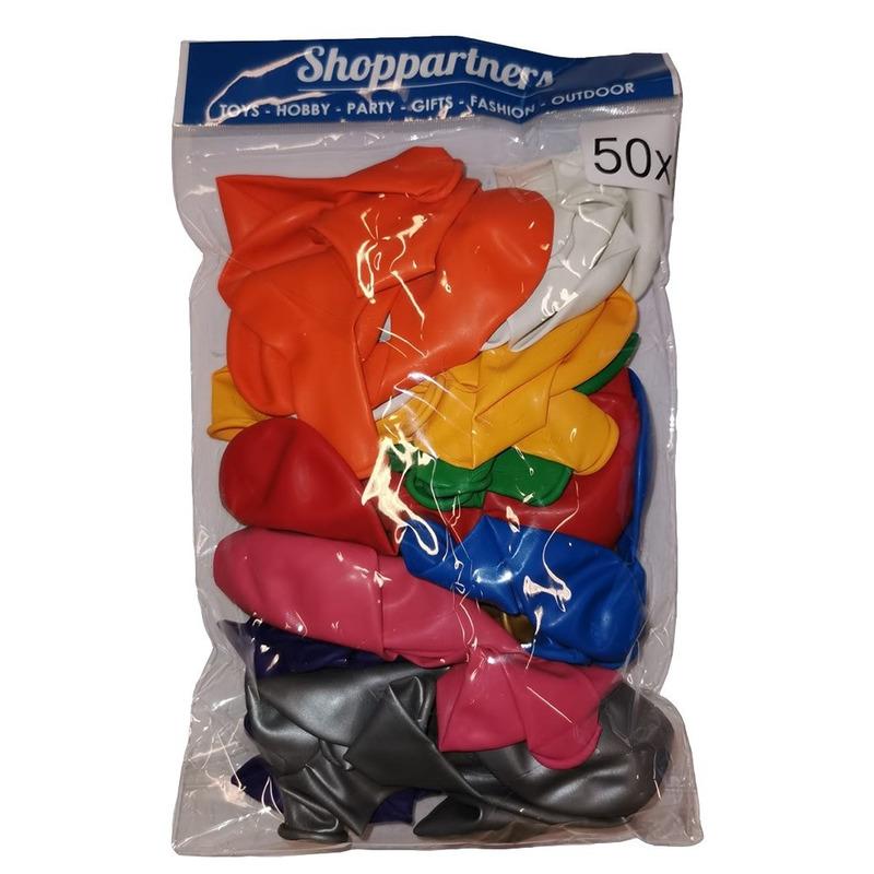 Feest ballonnen gekleurd 50x