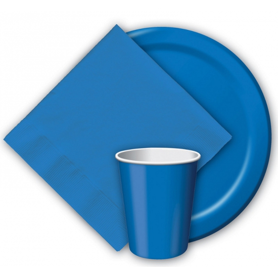 Feest bekertjes blauw 8 stuks