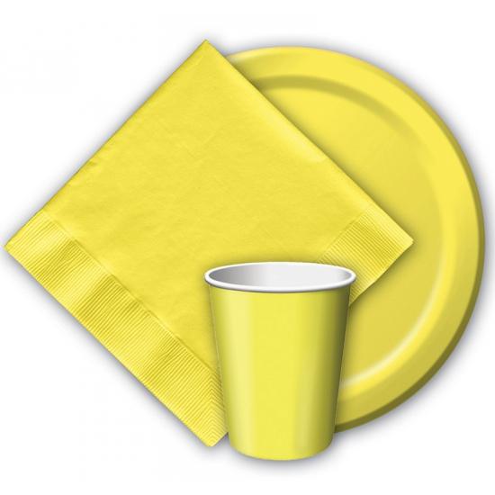 Feest borden geel 8 stuks