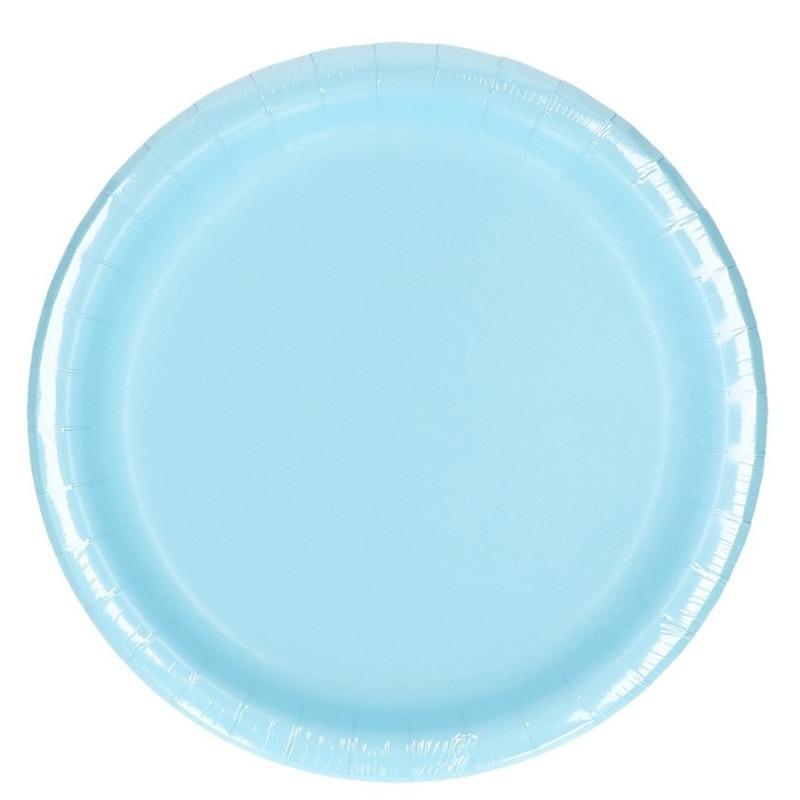 Feest borden lichtblauw 8 stuks