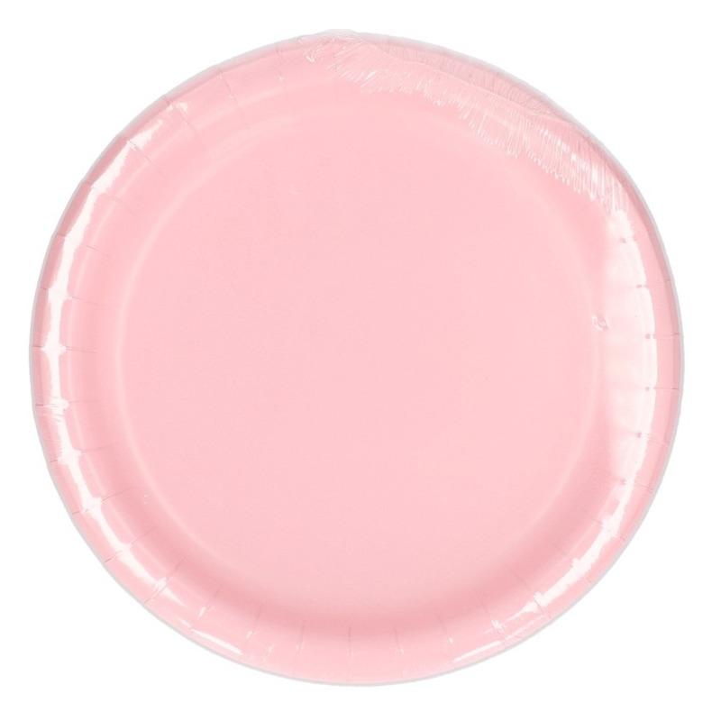 Feest borden lichtroze 23 cm