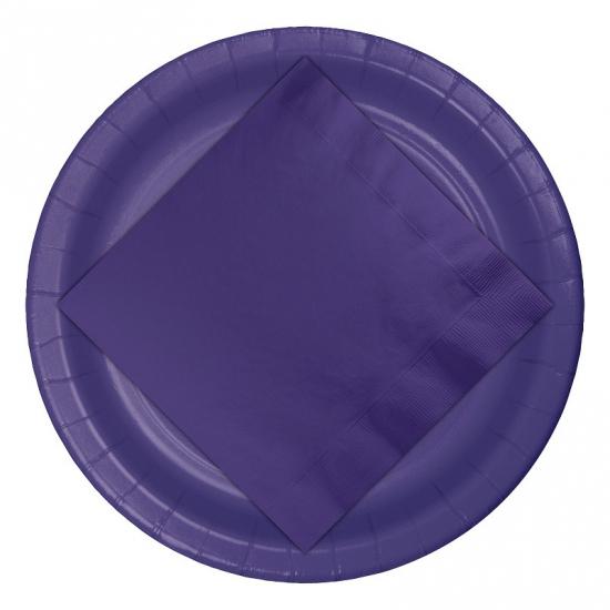 Feest borden paars 8 stuks