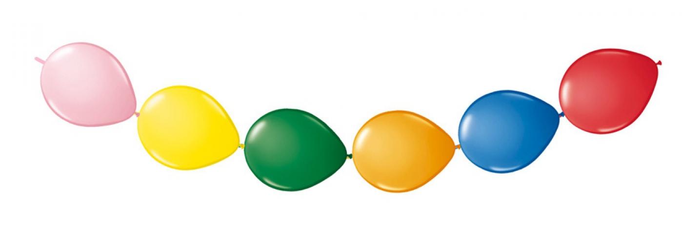 Feest knoopballonnen 8 stuks