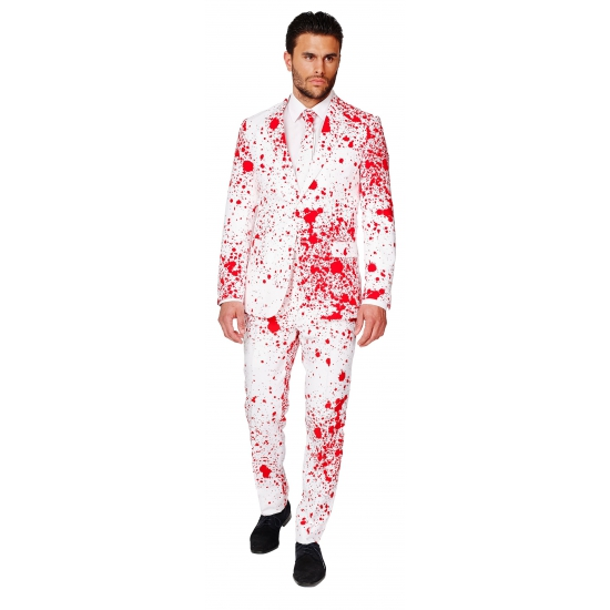 Feest kostuum bloedspatten print