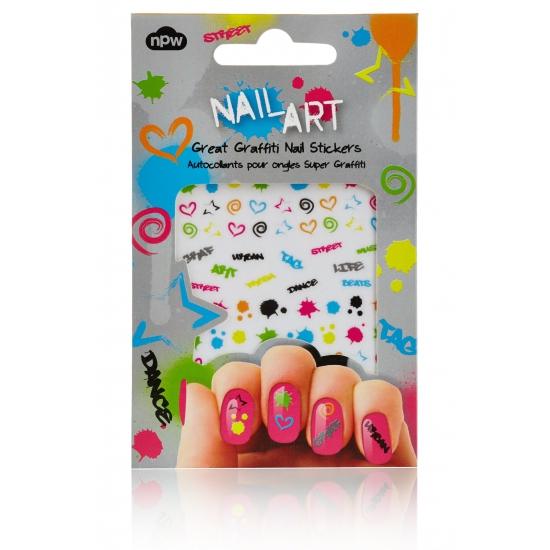 Feest nagel sticker pakket graffiti