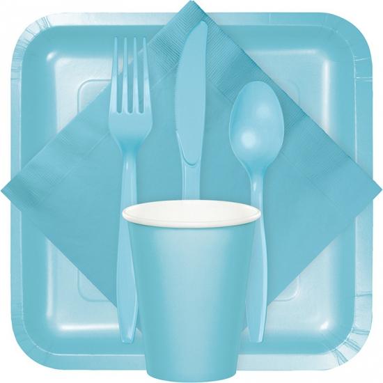 Feest servetjes lichtblauw
