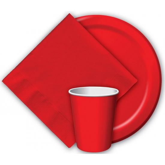 Feest servetjes rood