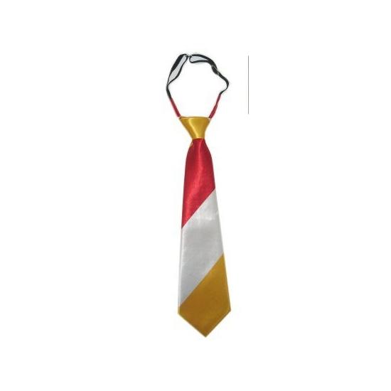 Feest stropdasje geel rood wit
