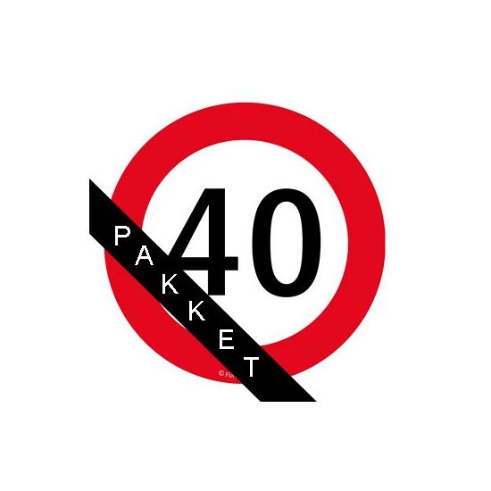 Feestartikelen 40 jaar pakket middel