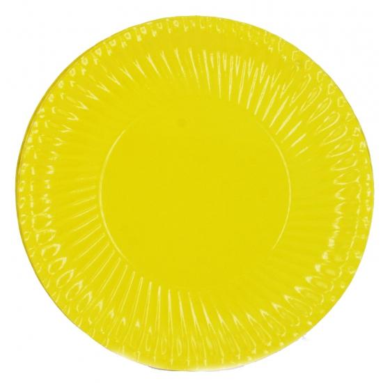 Feestartikelen borden geel 10 stuks