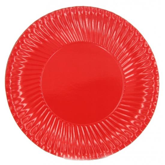 Feestartikelen borden rood 10 stuks