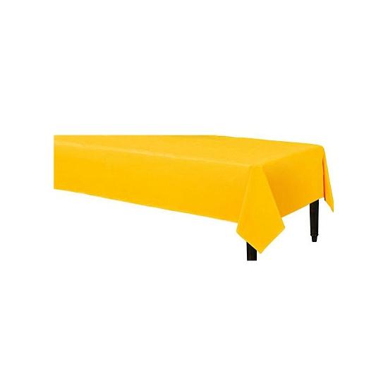 Feestartikelen geel tafelkleed 140 x 240 cm