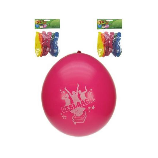 Feestartikelen geslaagd ballonnen 8x