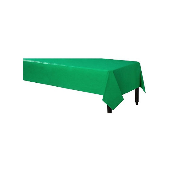 Feestartikelen groen tafelkleed 140 x 240 cm