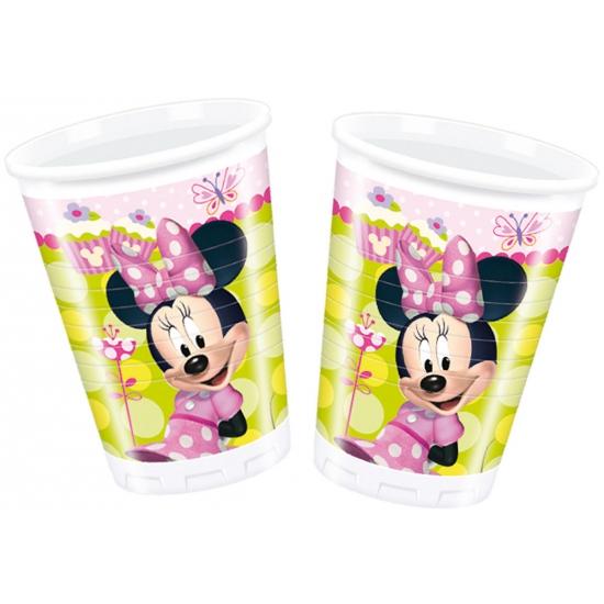 Feestartikelen Minnie Mouse bekertjes 10 stuks
