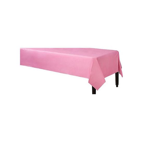 Feestartikelen roze tafelkleed 140 x 240 cm