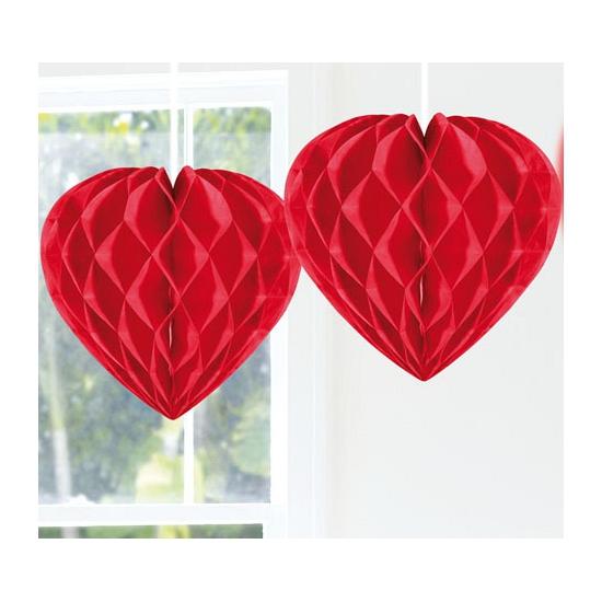 Feestversiering decoratie hart rood 30 cm