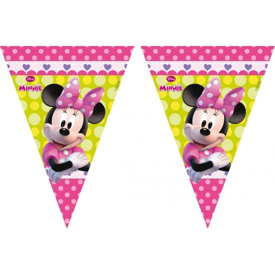 Feestversiering vlaggenlijn Minnie Mouse 3 meter