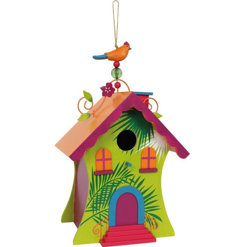 Fel gekleurde vogelhuisjes