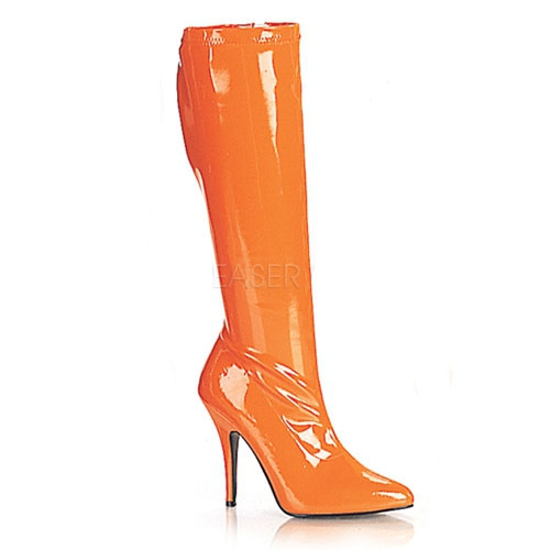 Fel oranje laars voor dames