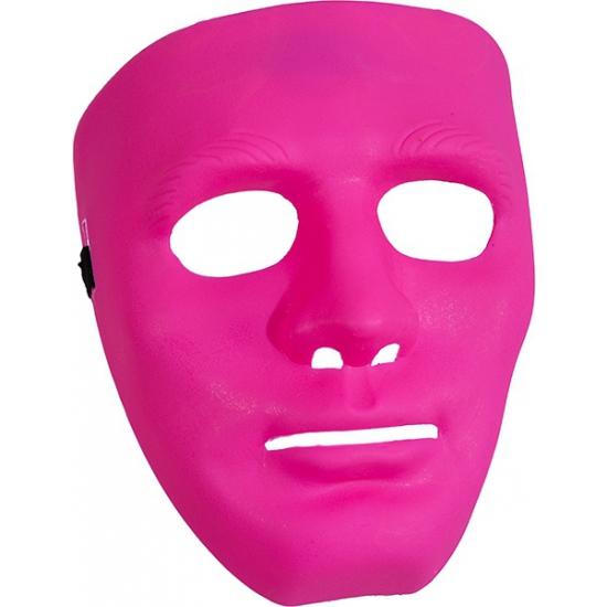 Fel roze gezichtsmaskers