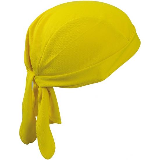Fitness bandana geel