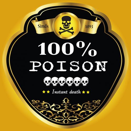 Flessen etiketten voor poison
