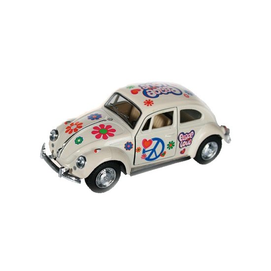 Flower Power beetle wit autootje