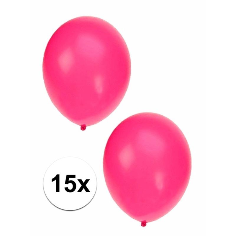 Fluor roze ballonnen 15 cm
