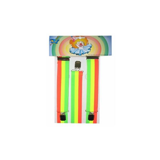 Fluoriserende regenboog bretels