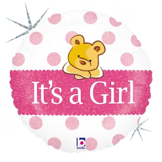 Folie geboorte ballon Its a Girl
