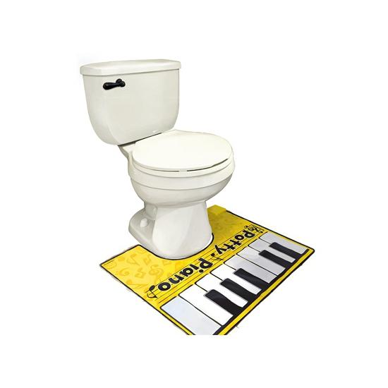 Fop toiletmat piano spelen