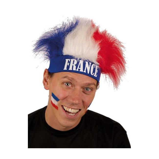 Frankrijk fan haarband met pruik